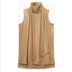 Tops - Bronze Tie Neck Top